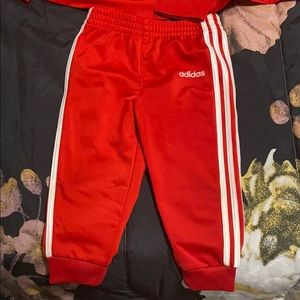 Red Adidas Suit